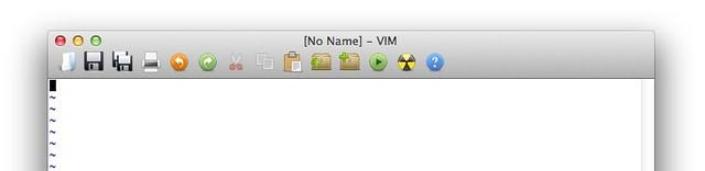 MacVim toolbar