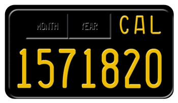 California License Plate History >> 1963 California Motorcycle License Plate License Plates