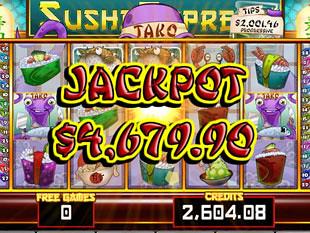 Sushi Express progressive jackpot