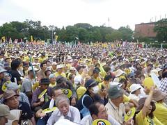 911告別核電示威,東京6萬人的集會,戰後日本最大的示威活動(劉黎兒攝,先覺出版社提供)