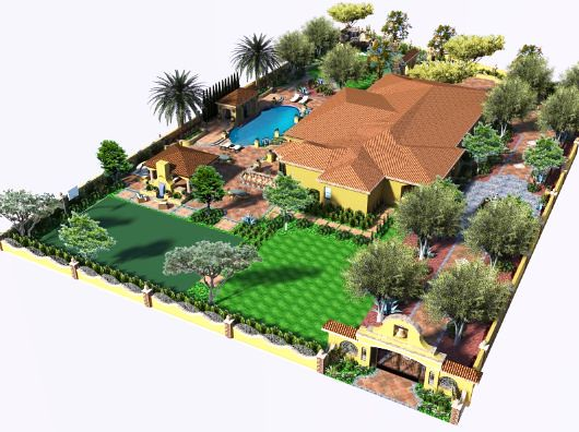 3d landscape design by v3 studio berzunza flickr photo for 3d garden designs