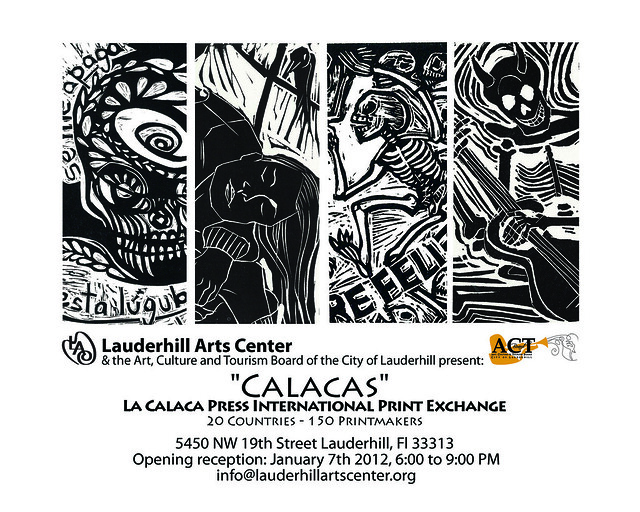 La Calaca Press International Print Exchange at Lauderhill, FL