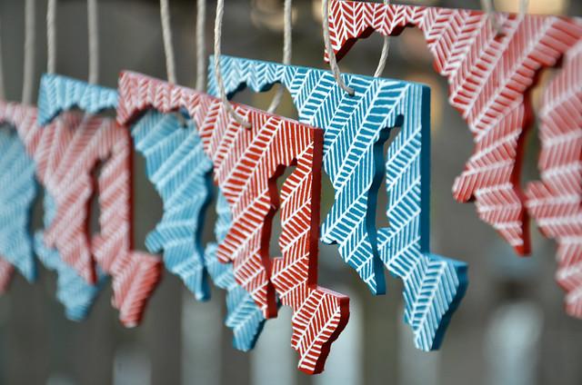mini maryland ornaments