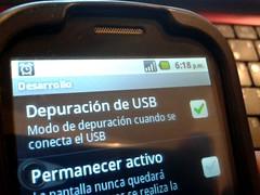 Depuración de USB