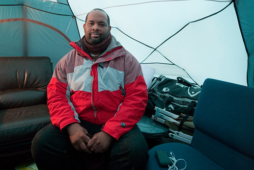 Pastor Corey B. Brooks in His Tent
