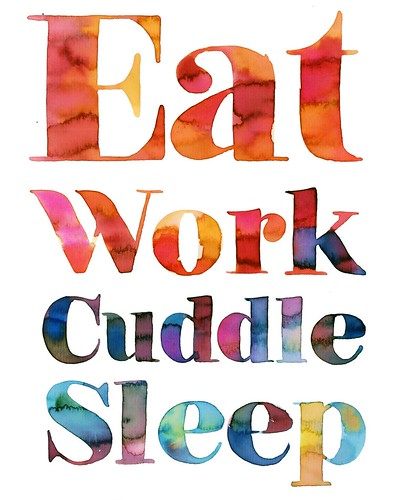 eat work cuddle sleep