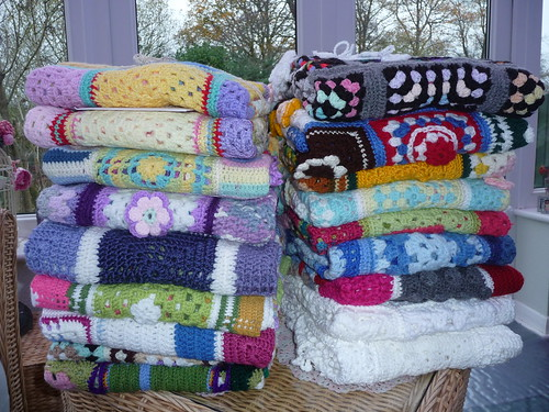 18 'Sunshine Blankets' ready to go to Dorset.