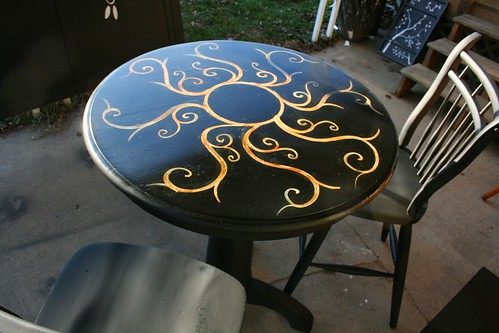 Pub Table and Chairs for Trisha in Detroit by Rick Cheadle Art and Designs
