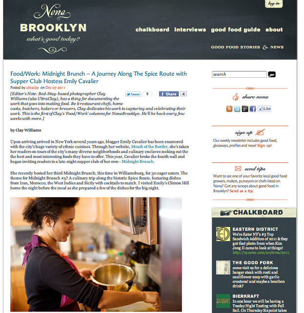 Press for Midnight Brunch on Nona Brooklyn