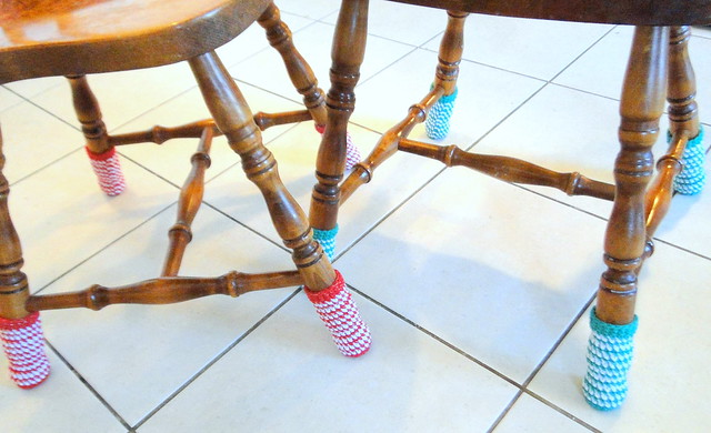 Christmas chair socks