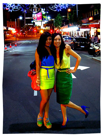Colour Blocking - Karen and Lisa