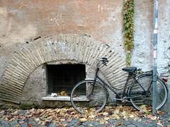 Bicicleta en el Trastevere