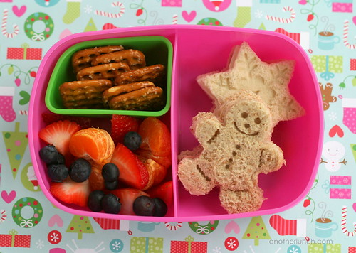 gingerbread snowflake sandwich bento girl