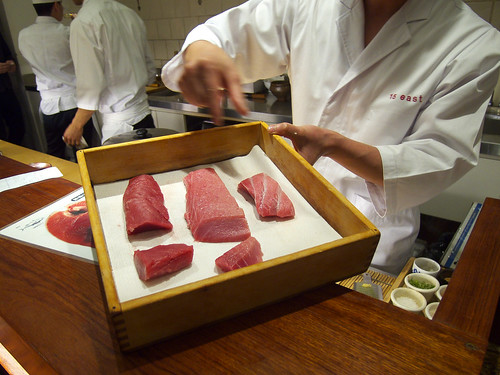 15 East - Chef Masa's chest of various tuna cuts