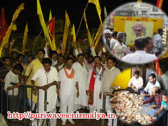 Lord Jagannath's Swaviman Yatra chariot arived at puri