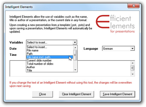 Efficient Elements Intelligent Elements