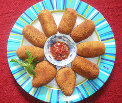 croquette, fried food, kibbeh, food, dish, cuisine, fast food,