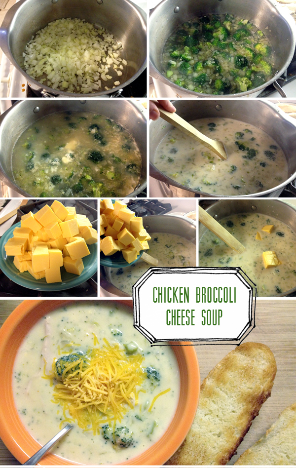 Homemade Chicken Broccoli Soup