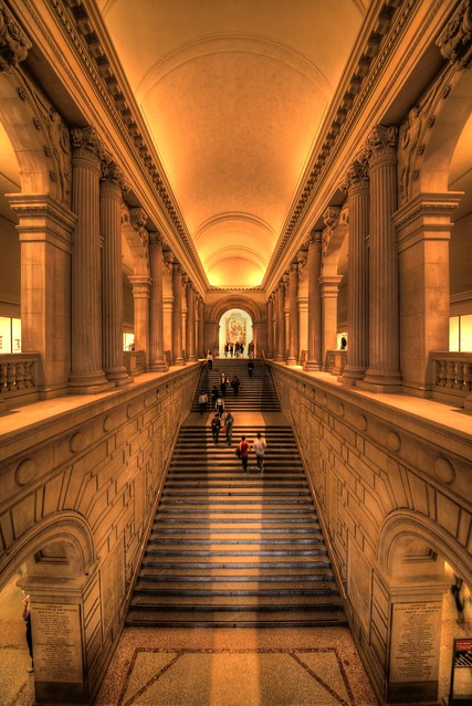 Stairs into art metropolitan museum new york flickr for The metropolitan museum of art nyc