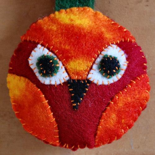 owl pendant flame