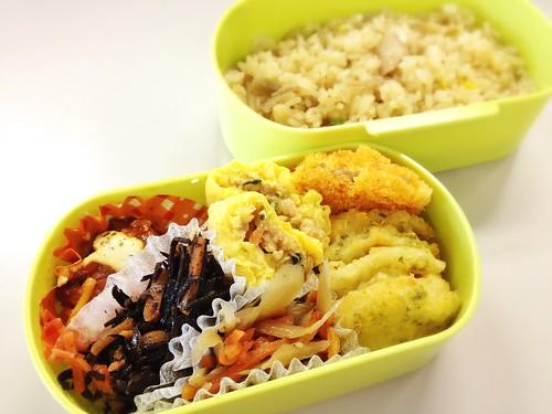 今日のお弁当 No.240 – 鶏ごぼう飯