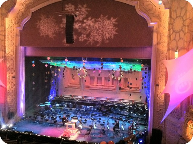 Gospel Christmas with the Oregon Symphony...waiting for it to start!