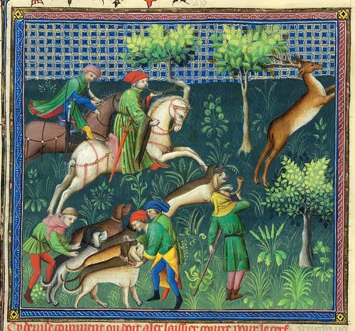 009-Le Livre de la chasse-1407- Gaston Phoebus- MS M. 1044 – fol 59v-detalle-© The Morgan Library & Museum