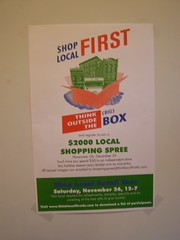 Shop Local First poster, DC