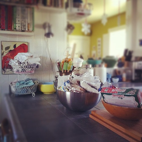 a spanky clean kitchen, prepped for baking & candy-making :: simple pleasures