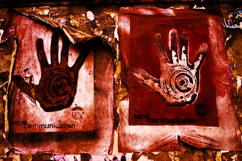 Double Lucid Communication Lens Hand, Street Art, Shibuya, Tokyo, Japan
