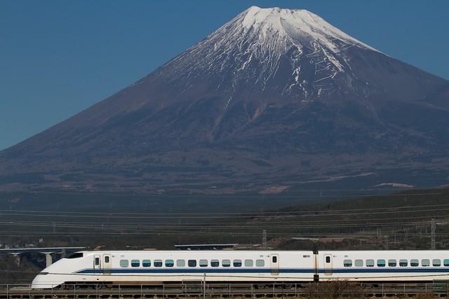 Shinkansen Series 300 with Mt.Fuji