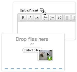 Ciri baru drag and drop untuk uploader WordPress 3.3