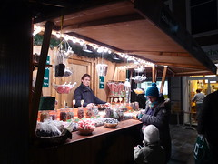Krauterbonbons Booth in Lubeck, Germany