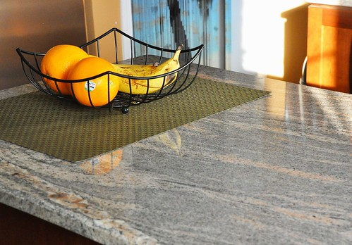 granite counter on peninsula