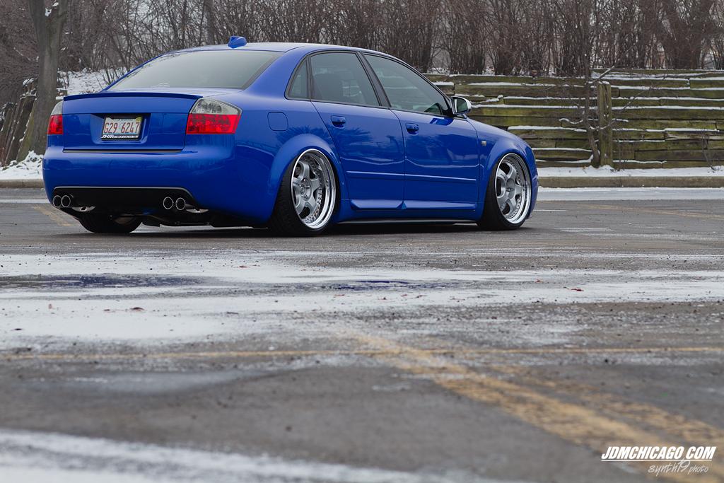 Nogaro Blue Audi S4 Work Meister S1 Wheels Bagged
