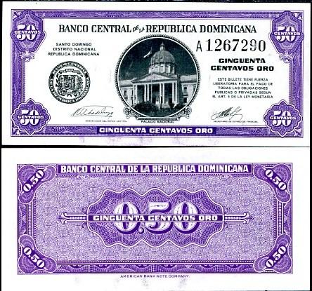 50 Centov Dominikánska Republika 1961, Pick 89