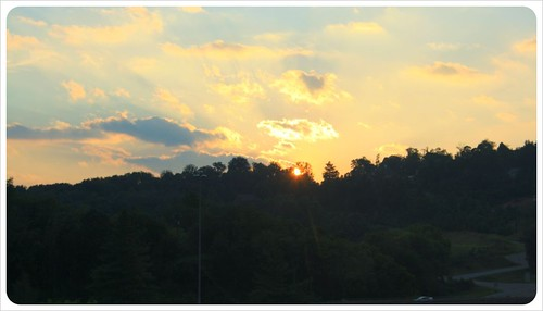sunset in asheville north carolina