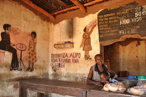 Small cafe in Malawi