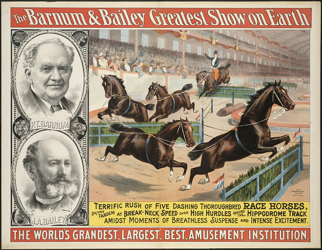The Barnum & Bailey greatest show on earth : The world's grandest, largest, best, amusement institution.