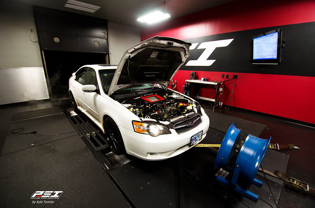 2004 Subaru Legacy on the dyno at PSI