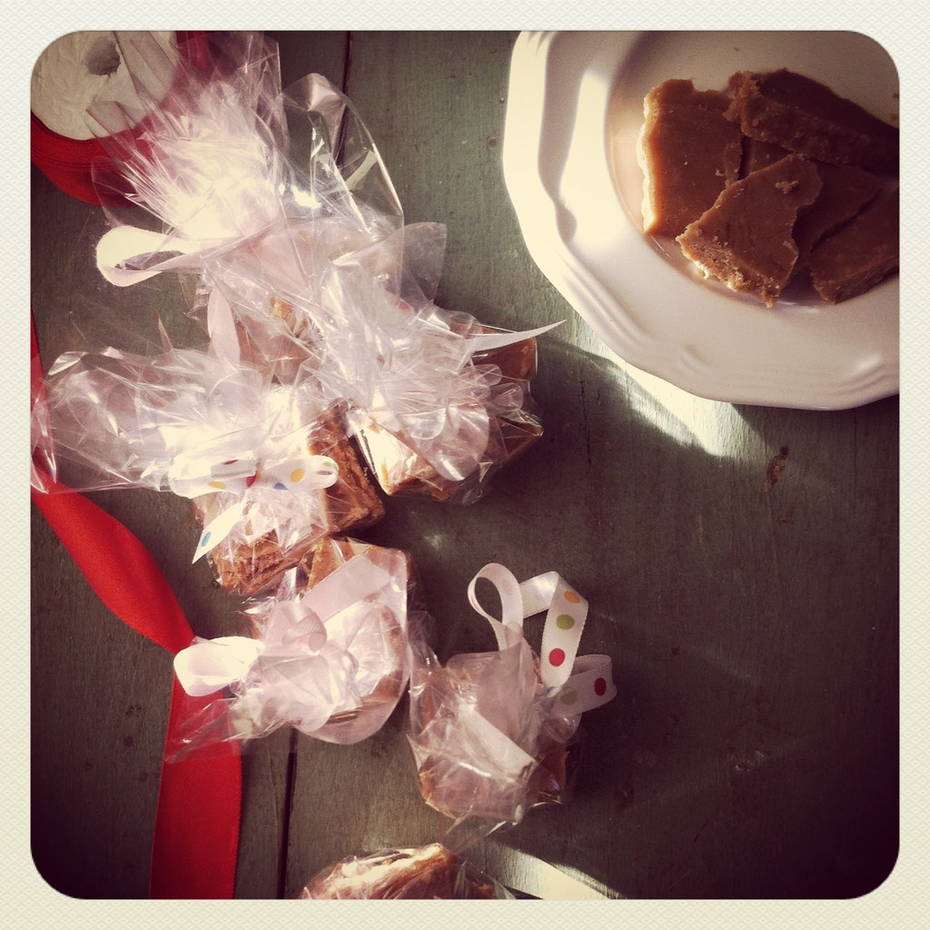 Saffron Caramel candy barks  gifted
