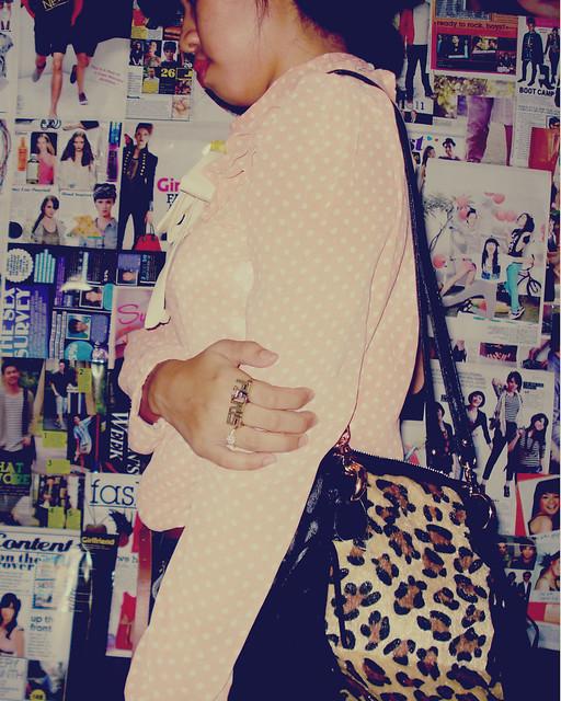 leopard gothic bag