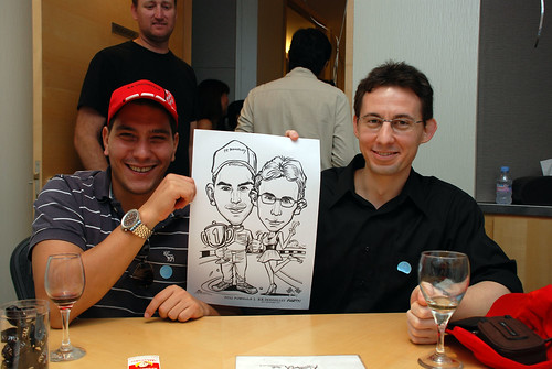 caricature live sketching 2011 Formula 1 RR Donnelley Party - 19