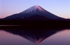 [フリー画像素材] 自然風景, 山, 河川・湖, 朝焼け・夕焼け, 富士山, 風景 - 日本 ID:201203272000