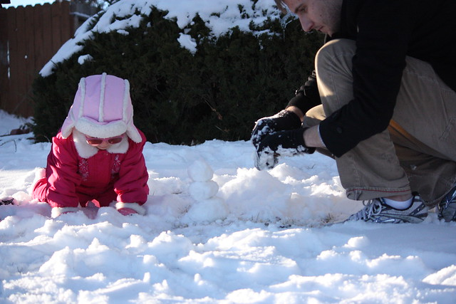 snowman making 1