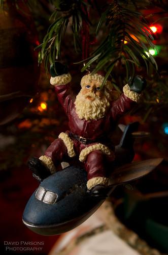Santa on a jet plane