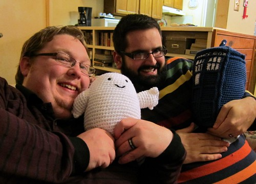 bill, chris and their dr. who stuffies