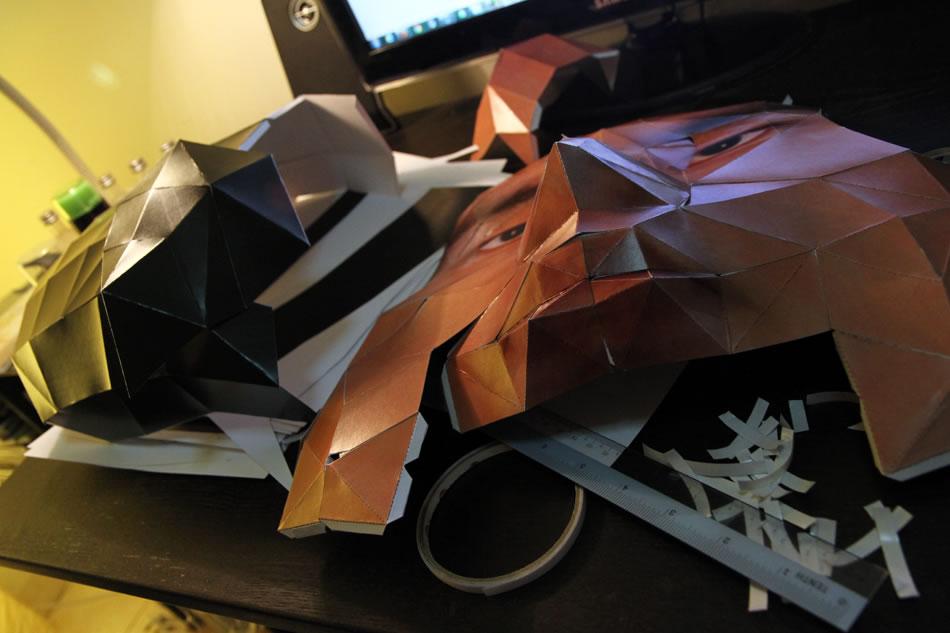 DIY papercraft Big Head