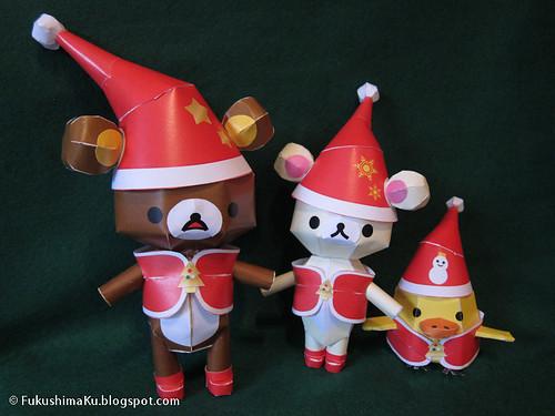 Rilakkuma papercraft di Natale