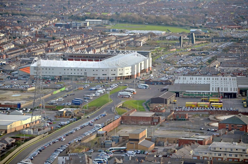 Bloomfield Road from the top of Blackpool Tower